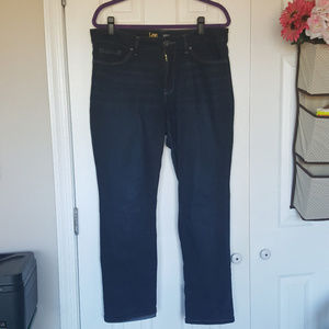 Lee Perfect Fit Straight Jeans Dk Wash 14 SHORT